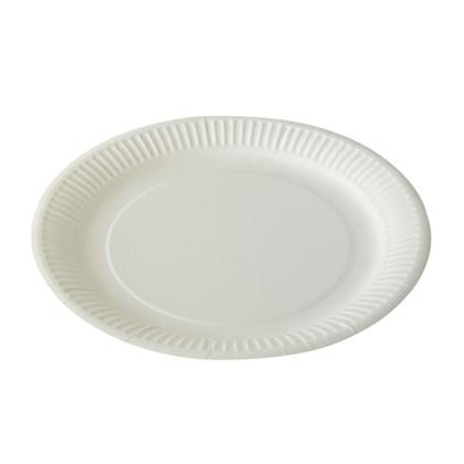 "9"" White Paper Plate"