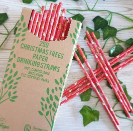 Christmas Tree Paper Straw 200 x 6mm Qty 250