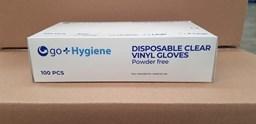 Clear Vinyl Gloves P/F Qty 100 Medium