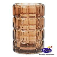 Scacchi Chestnut Glass Candle Holder