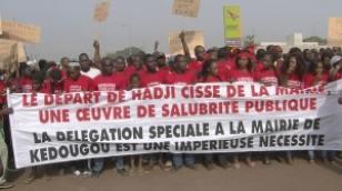 Des jeunes réclament le départ du maire de la commune de Kédougou