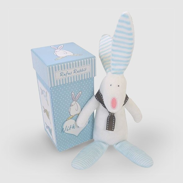 Bunny Rattle - blue