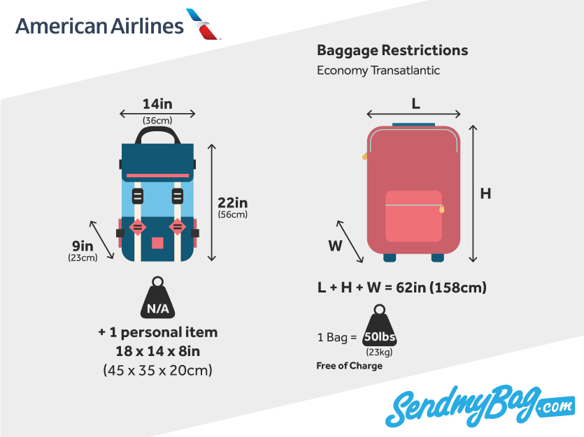 American Airlines Baggage Allowance For Carry On Amp Checked