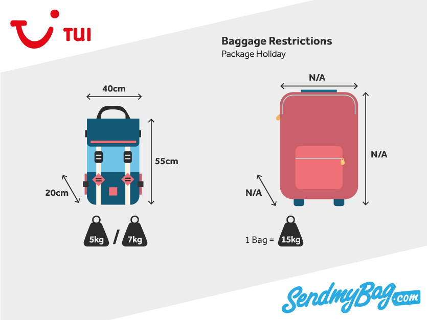 2018 Thomson Tui Baggage Allowance For Hand Luggage And