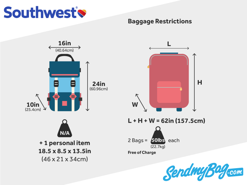 2018 Southwest Baggage Allowance For Carry On Amp Checked