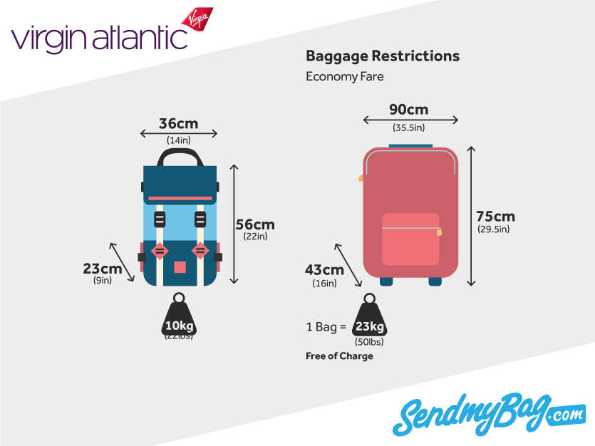 Virgin Atlantic Baggage Allowance 2018 For Hold Luggage & Checked