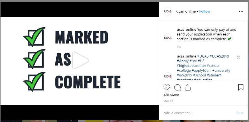 Best Instagram Accounts: @ucas_online
