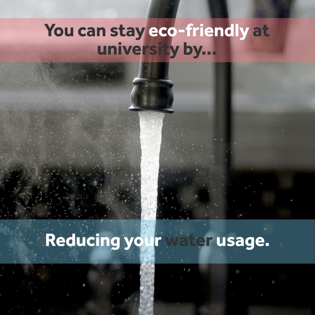 Reducing water usage - eco friendly at university
