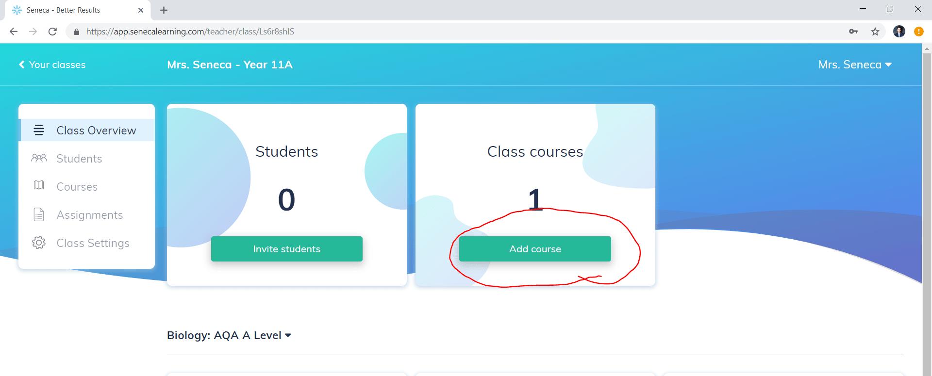 Seneca Learning Add A Class | width=400
