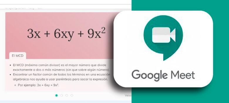 Obtén Material listo y gratis para exponer en Google Meet