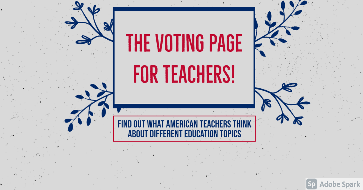 The voting page for teachers!