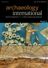 cover image for the Archaeology International journal