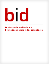 cover image for the BiD: textos universitaris de biblioteconomia i documentació journal