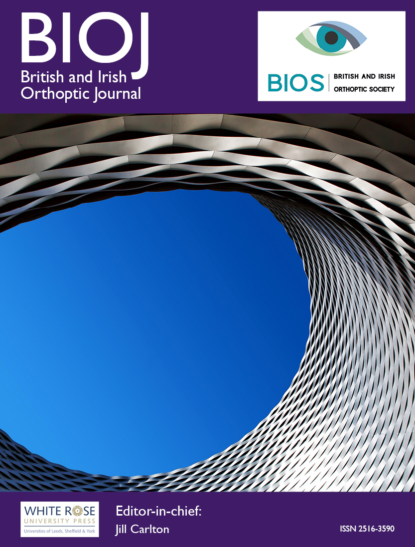 cover image for the British and Irish Orthoptic Journal journal