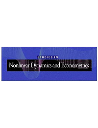 cover image for the Studies in Nonlinear Dynamics and Econometrics journal