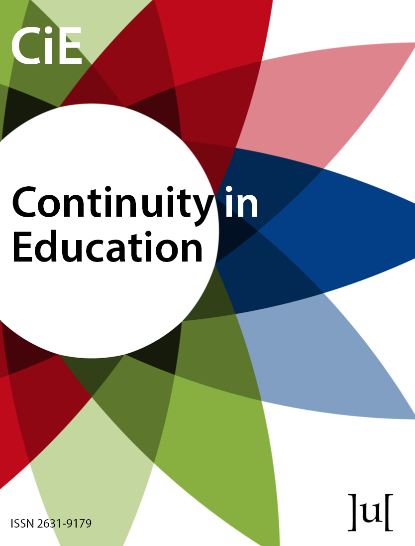 cover image for the Continuity in Education journal