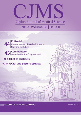 cover image for the Ceylon Journal of Medical Science journal