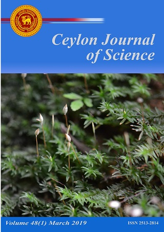 cover image for the Ceylon Journal of Science journal