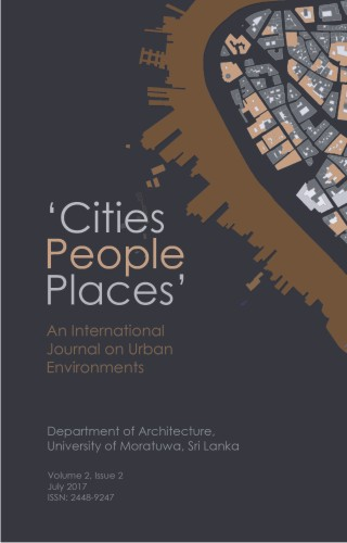 cover image for the Cities People Places : An International Journal on Urban Environments journal