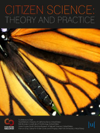 cover image for the Citizen Science: Theory and Practice journal