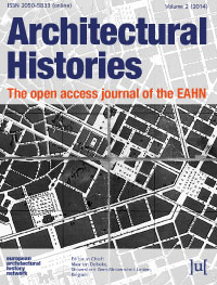 cover image for the Architectural Histories journal