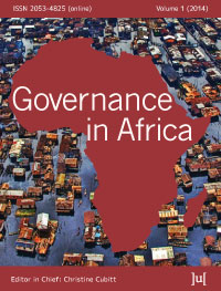 cover image for the Governance in Africa journal