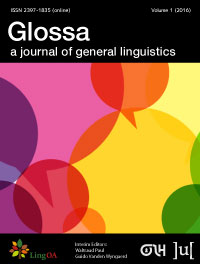 cover image for the Glossa: a journal of general linguistics journal