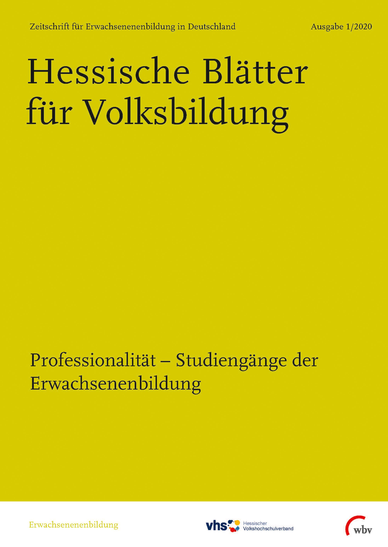 cover image for the Hessische Blätter für Volksbildung journal