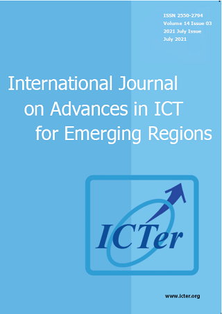 cover image for the International Journal on Advances in ICT for Emerging Regions (ICTer) journal
