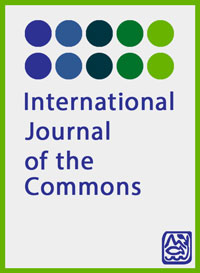 cover image for the International Journal of the Commons journal