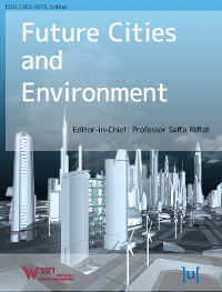 cover image for the Future Cities and Environment journal