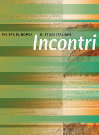 cover image for the Incontri. Rivista europea di studi italiani journal