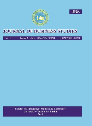 cover image for the Journal of Business Studies journal