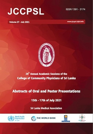 cover image for the Journal of the College of Community Physicians of Sri Lanka journal