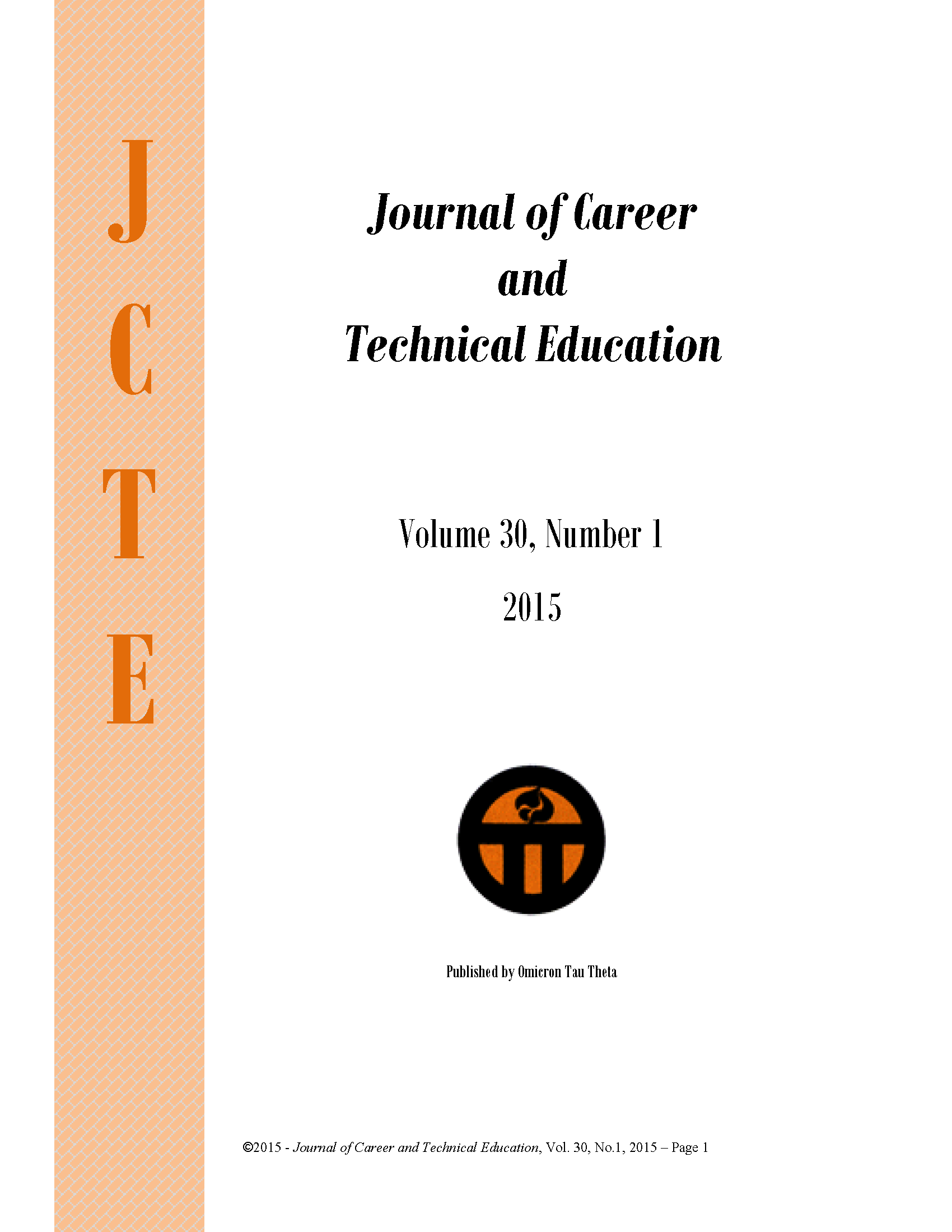 cover image for the Journal of Career and Technical Education journal
