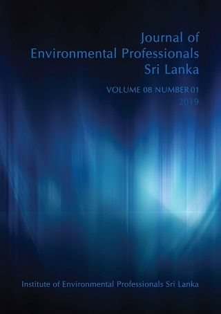 cover image for the Journal of Environmental Professionals Sri Lanka journal