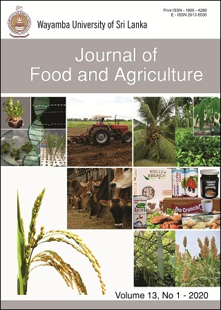 cover image for the Journal of Food and Agriculture journal