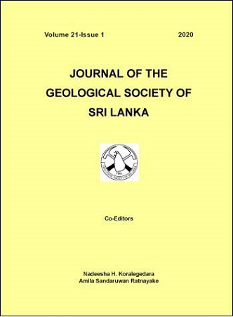 cover image for the Journal of the Geological Society of Sri Lanka journal