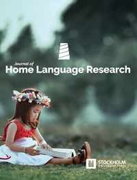 cover image for the Journal of Home Language Research journal