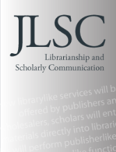 cover image for the Journal of Librarianship and Scholarly Communication journal