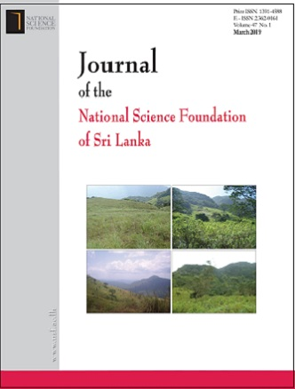 cover image for the Journal of the National Science Foundation of Sri Lanka journal