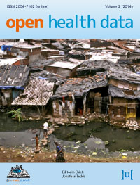 cover image for the Open Health Data journal