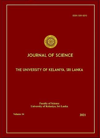 cover image for the Journal of Science of the University of Kelaniya Sri Lanka journal