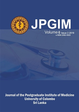 cover image for the Journal of the Postgraduate Institute of Medicine journal