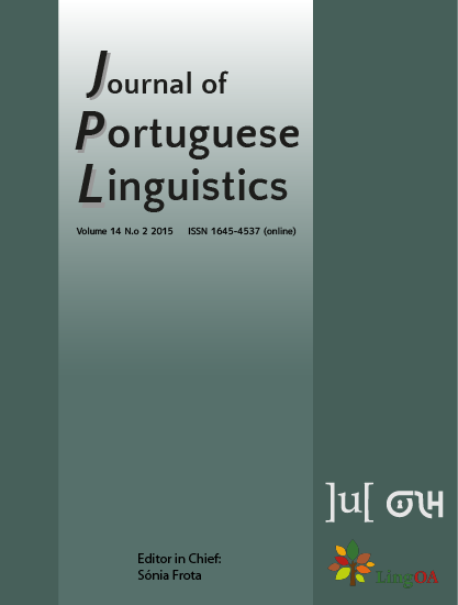 cover image for the Journal of Portuguese Linguistics journal