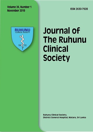 cover image for the Journal of the Ruhunu Clinical Society journal