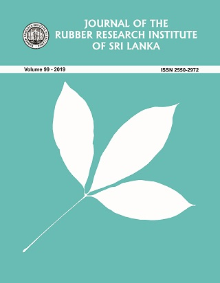 cover image for the Journal of the Rubber Research Institute of Sri Lanka journal