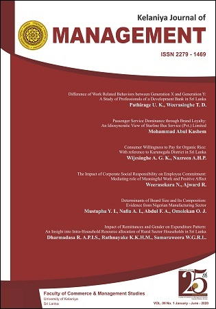 cover image for the Kelaniya Journal of Management journal