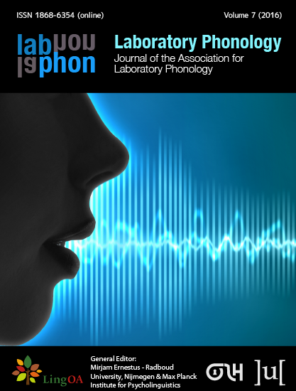 cover image for the Laboratory Phonology: Journal of the Association for Laboratory Phonology journal