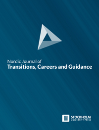 cover image for the Nordic Journal of Transitions, Careers and Guidance journal